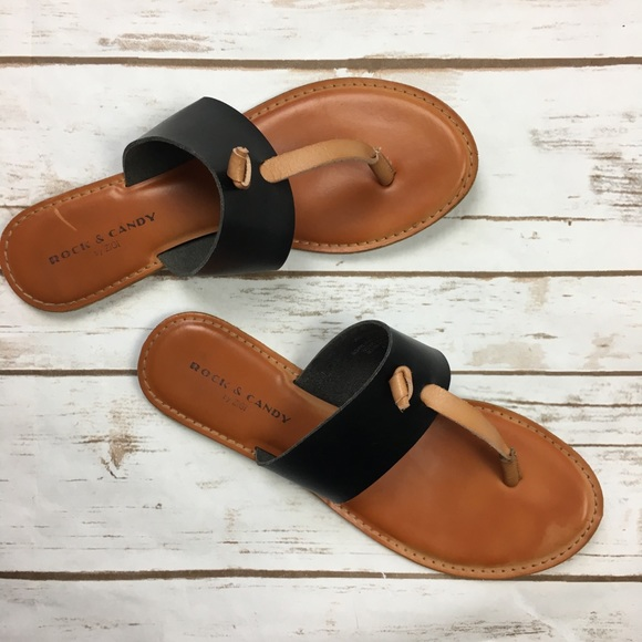 8934ea98043 Rock   Candy Light Brown Black Blaney Thong Sandal